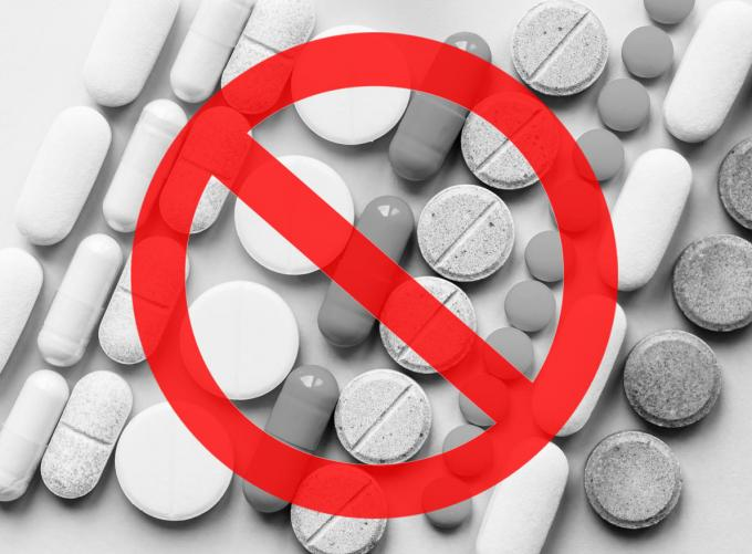 stop opioids painkillers crisis and drug abuse concept opioid and prescription medication addiction epidemic different ki...