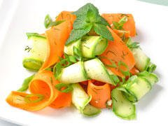 Salade courgettes-oranges