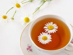 Tisane de camomille (troubles digestifs, stress)