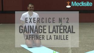 Exercice n°2 : gainage latéral - affiner la taille