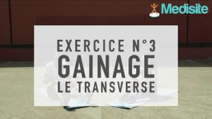 Exercice n°3 : gainage - le transverse