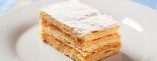 Millefeuille pomme rhubarbe