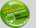 Label Excellence Harris Interactive Sites Editoriaux Printemps 2014